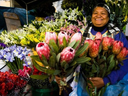 Flower Sellers on Cape Town City Tour