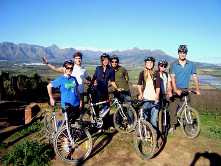Tours in cape winelands by bike, Cape Town