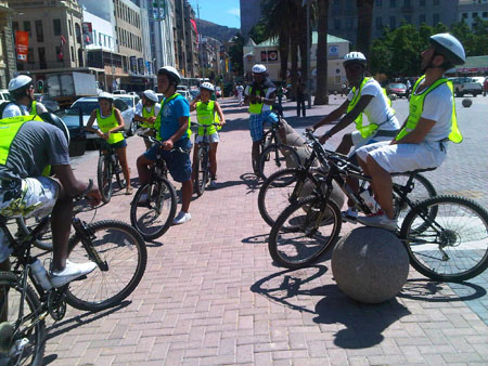 cycling in Cape Town City Centre